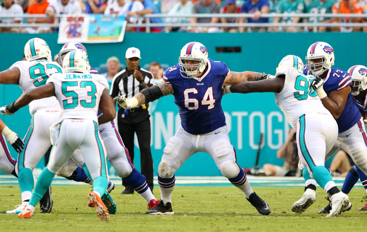 Through three weeks, Incognito is the top-rated guard in the league according to Pro Football Focus. (Photo: Mark Serota for Sports Illustrated)