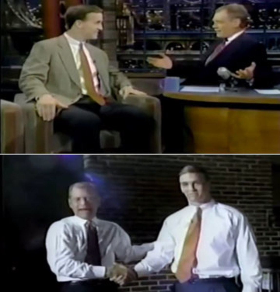 """Manning's first appearance on the """"Late Show"""""""