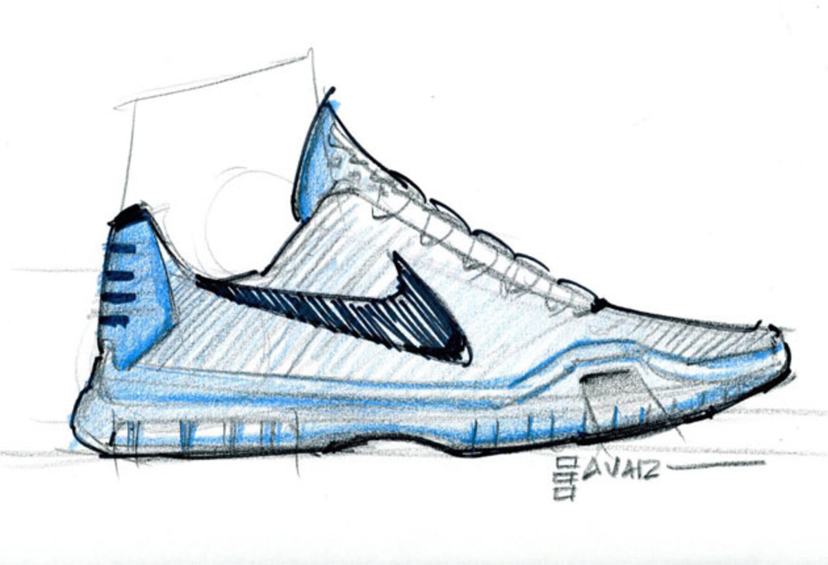 Kobe outline shoe