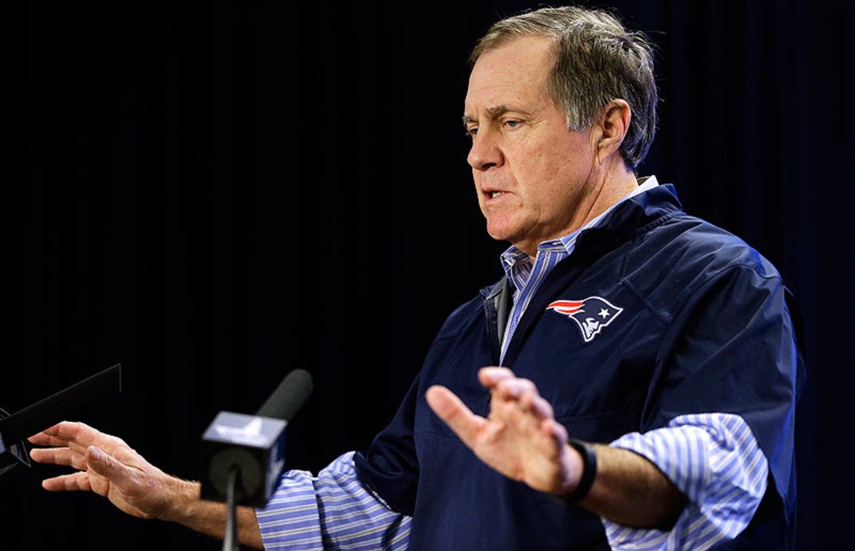 Bill Belichick held two press conferences in a three-day span to address the NFL's deflated football investigation. (Steven Senne/Getty Images)