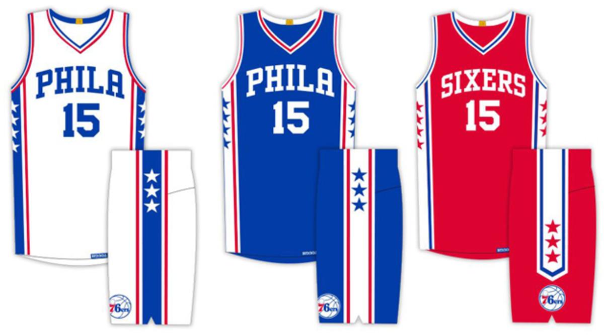 Philadelphia 76ers unveil new uniforms