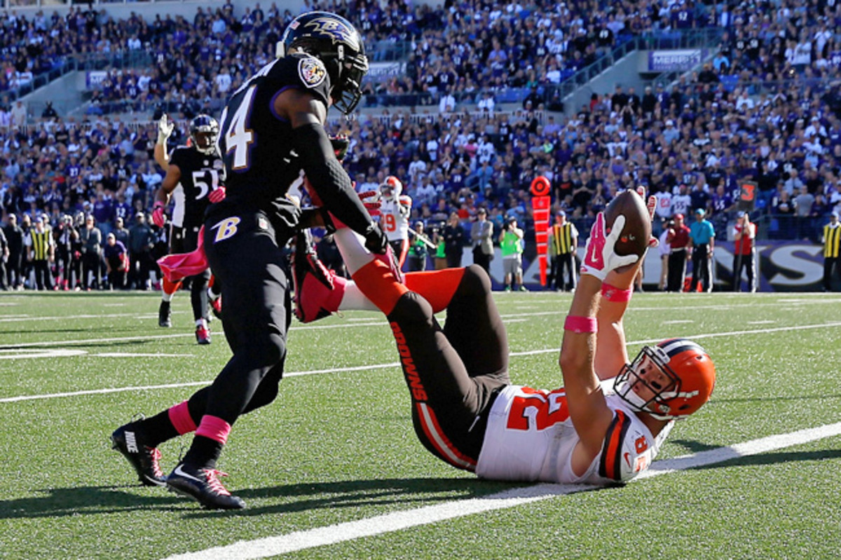 This ball was trapped between Barnidge's thighs, then his heels before he grabbed it for the catch of the year so far.