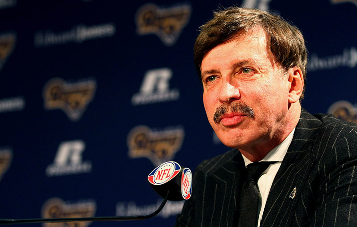 Rams owner Stan Kroenke, the mystery man in the center of the Los Angeles stadium issue, has remained quiet throughout the process thus far. (Dilip Vishwanat/Getty Images)