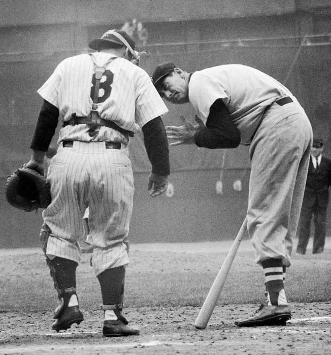 Yogi Berra and Ted Williams