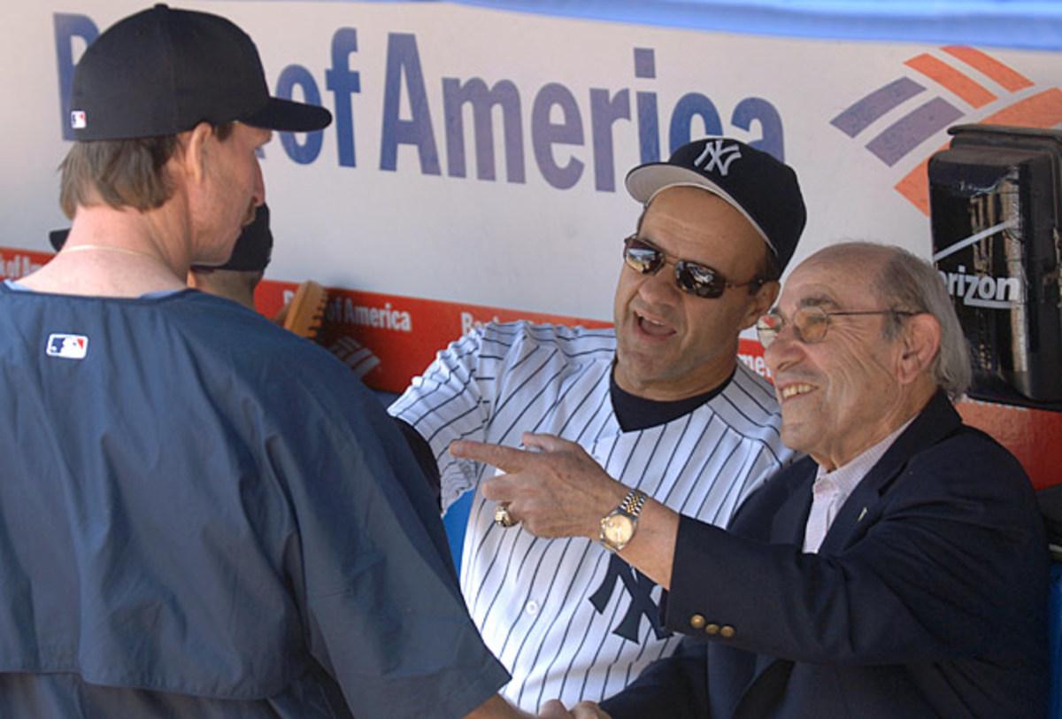 Yogi Berra, Joe Torre and <br> Randy Johnson