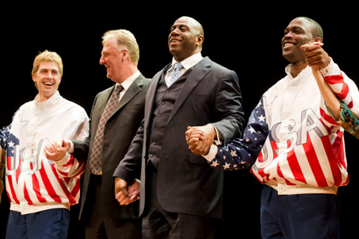 Kevin Daniels, Magic Johnson, Larry Bird and Tug Coker