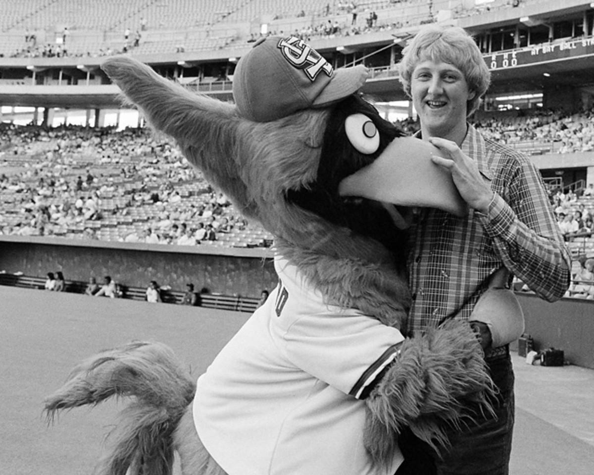 Larry Bird and Fredbird