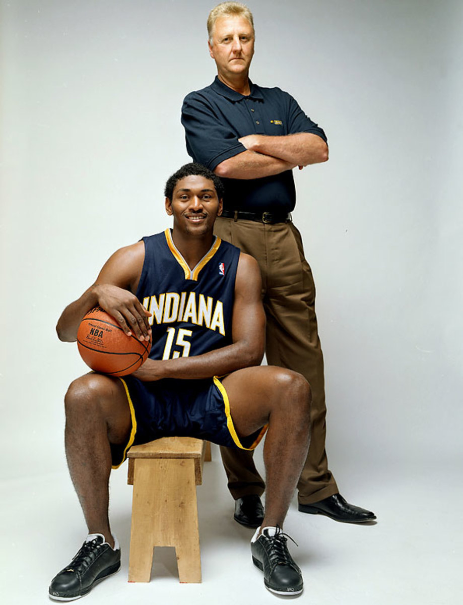 Larry Bird and Ron Artest