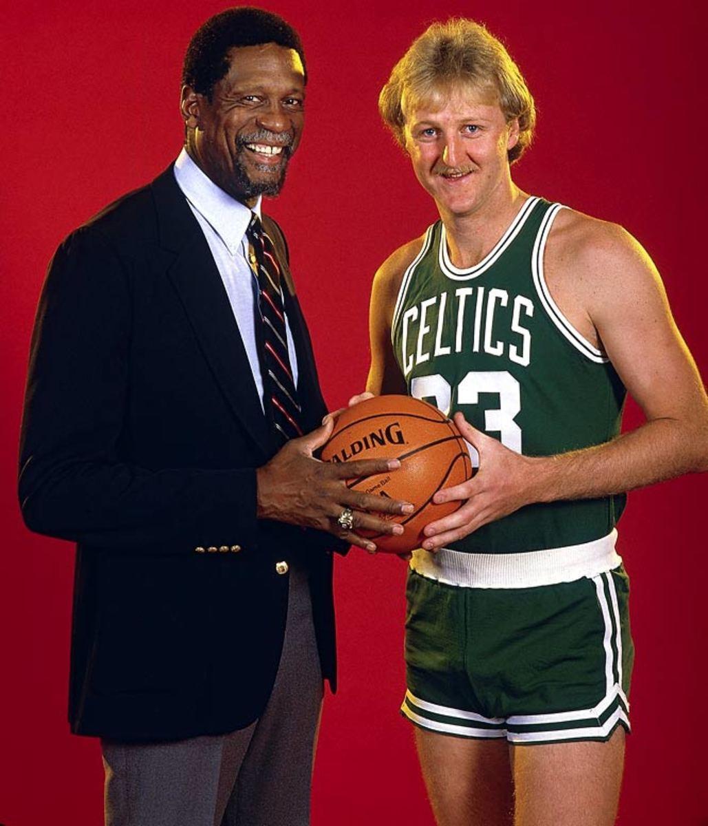 Bill Russell and Larry Bird
