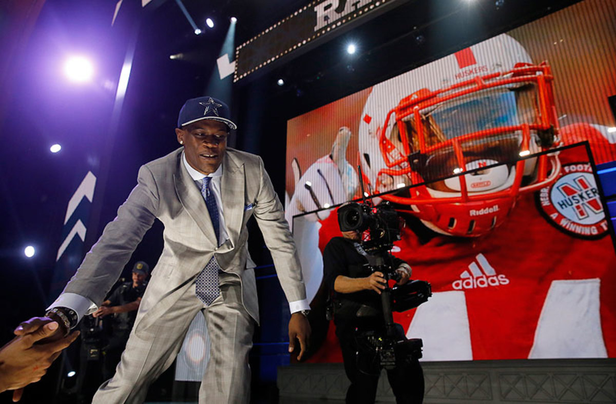 The Cowboys ended Randy Gregory's long wait in Chicago, selecting the ex-Husker in the second round with the 60th overall pick. (Charles Rex Arbogast/AP)