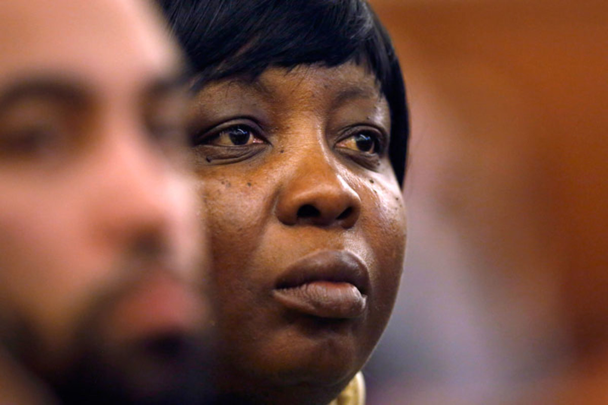 Ursula Ward, mother of the victim, Odin Lloyd, has been a constant presence in the courthouse. (Steve Senne/AP)