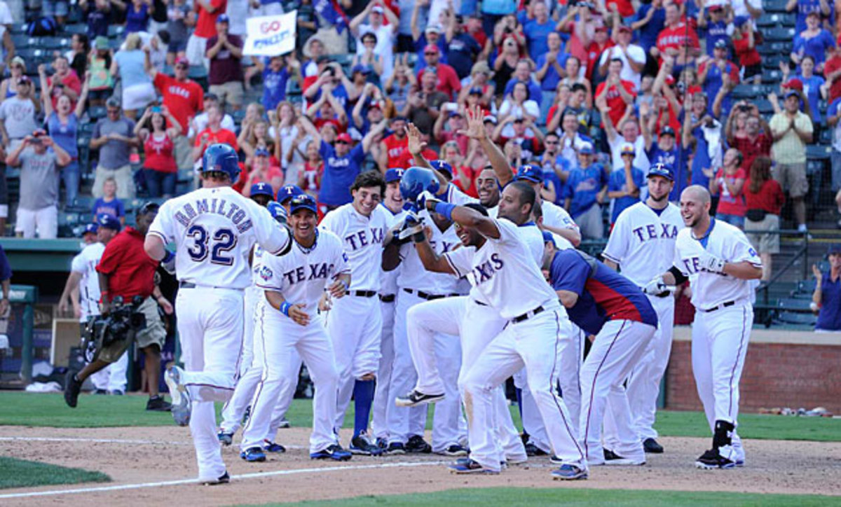 With Hamilton leading the way, the Rangers reached the playoffs three straight years from 2010-12.