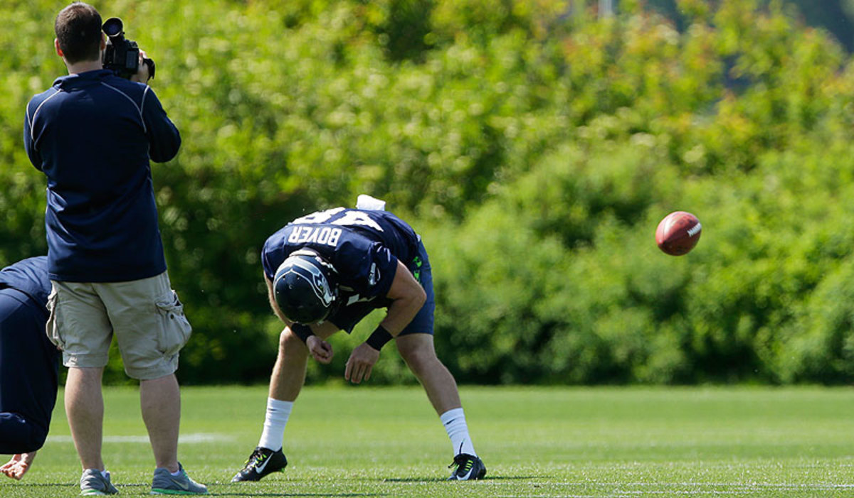 To earn a job with the Seahawks, Boyer will have to beat out veteran Clint Gresham, Seattle's long-snapper since 2010. (Ted S. Warren/AP)