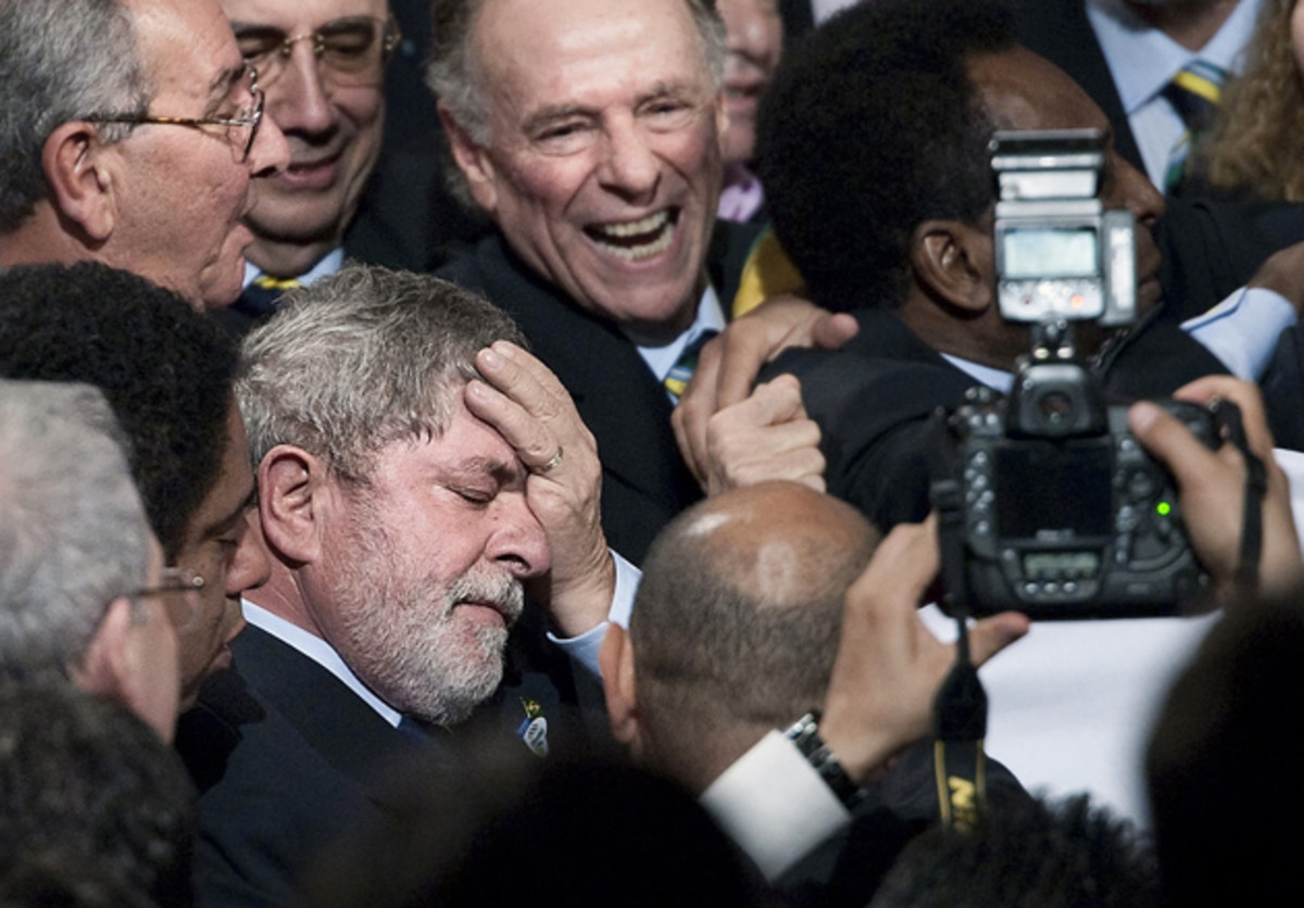 The ex-president was overcome when Rio was named host. Construction of Olympic Park began three years later.