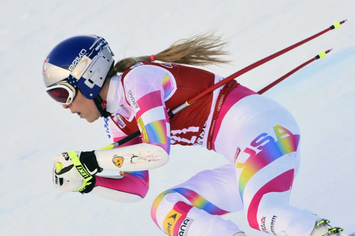 Vonn during the World Cup Women's Super-G in France in Dec. 2014.