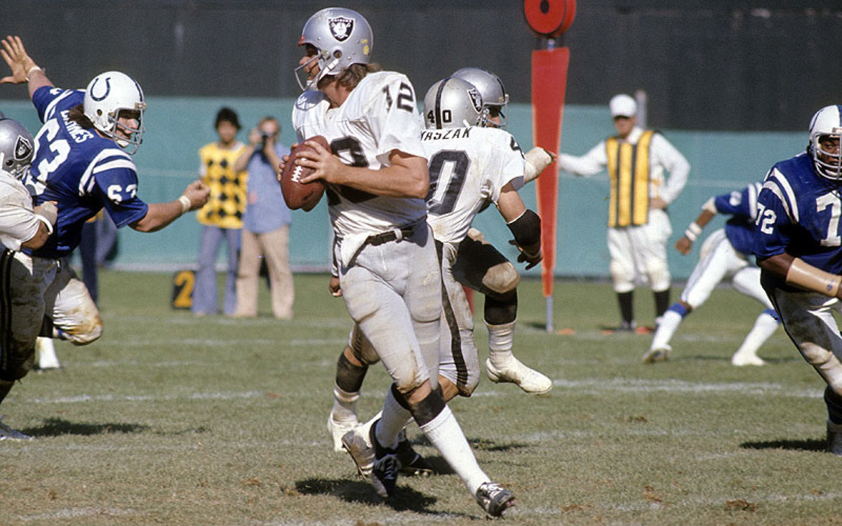 Ken Stabler went 96-49-1 as a starting quarterback, giving him a .661 win percentage, currently seventh best in NFL history. (Focus On Sport/Getty Images)