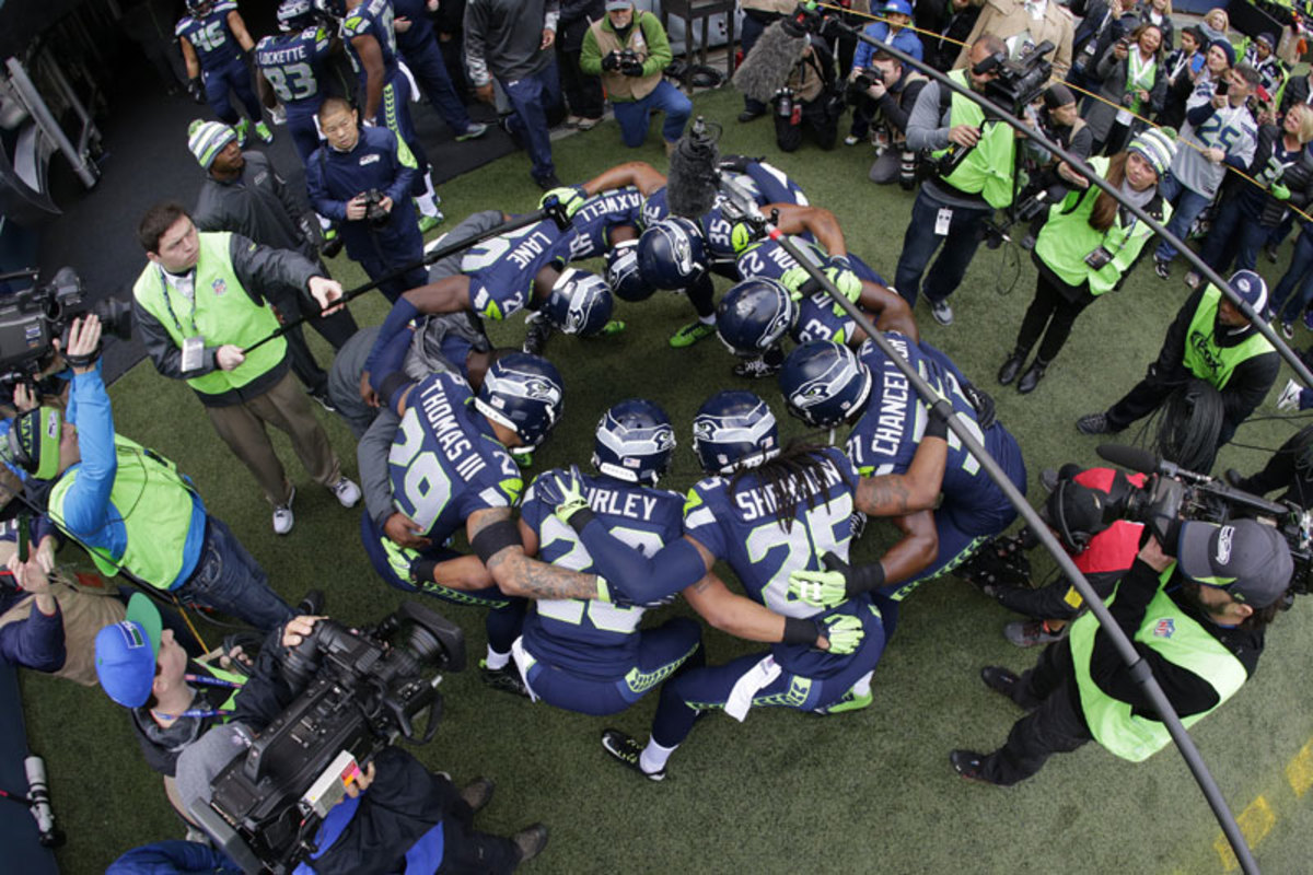 Seahawks united. (Scott Eklund/AP)