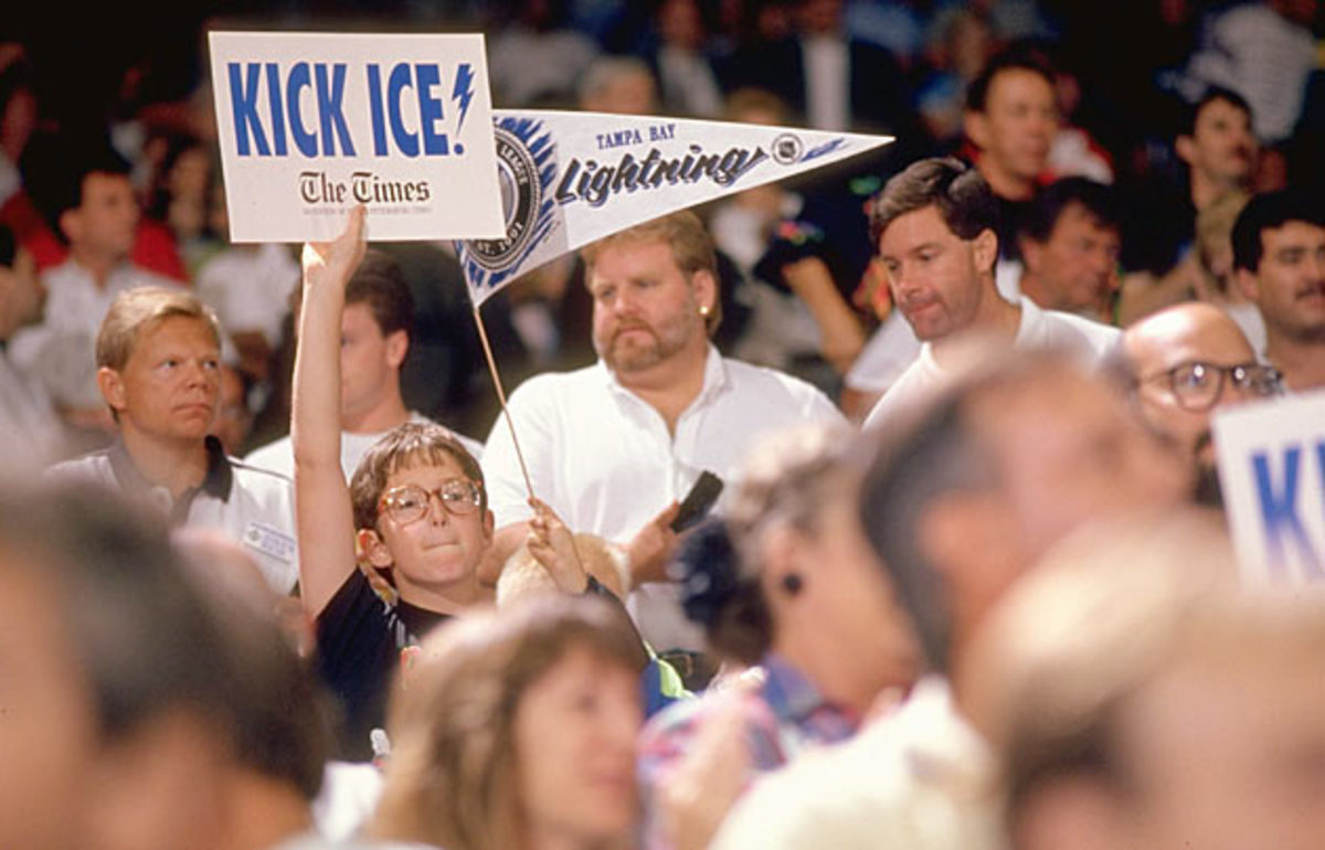 Lightning fans proved to be loud and enthusiastic.