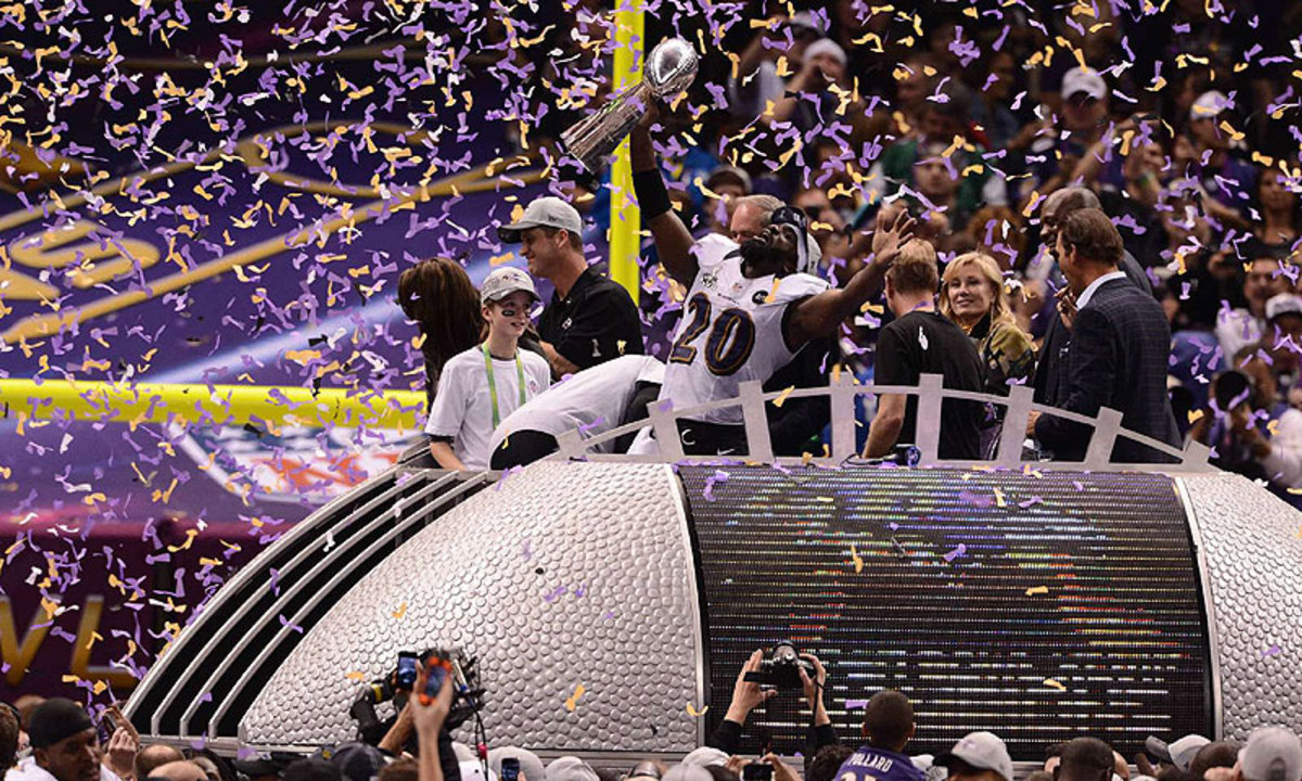 Ed Reed won a Super Bowl in the last of his 11 seasons with the Ravens. (John W. McDonough/Sports Illustrated)