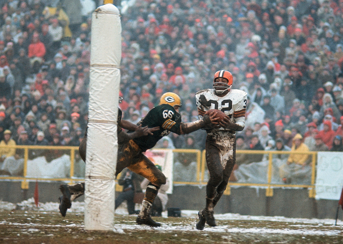 The championship game at Green Bay on Jan. 2, 1966, Brown's final NFL game. (Tony Tomsic/Sports Illustrated)