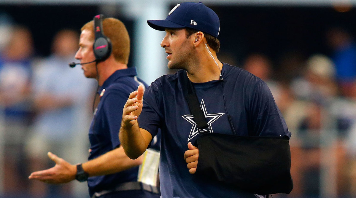 Tony Romo's broken clavicle has left the Cowboys without consistent quarterback play for most of the season's first half.