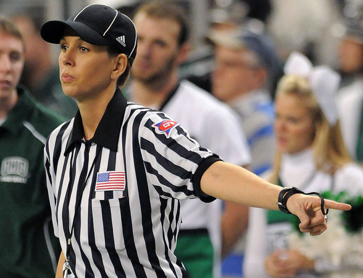 Sarah Thomas will become the NFL's first female official this fall. (Mark Cunningham/Getty Images)
