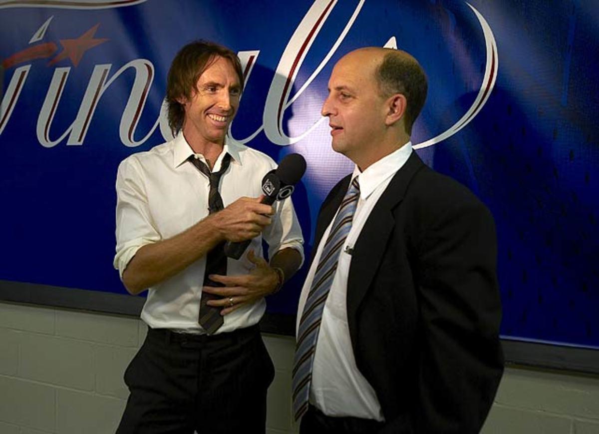Steve Nash and Jeff Van Gundy