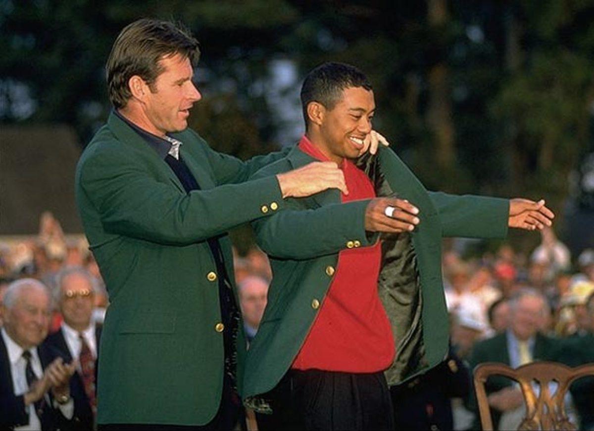 Nick Faldo, Tiger Woods