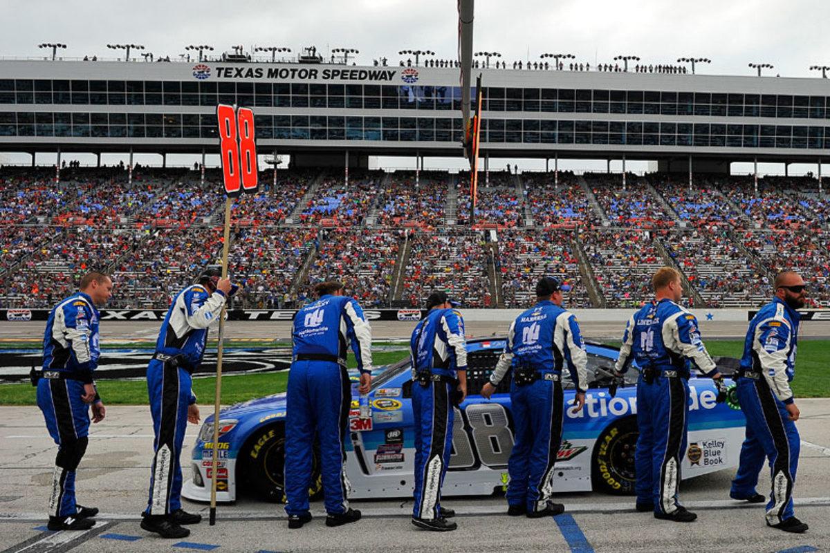 The No. 88 car crew. (Courtesy Hendrick Motorsports)
