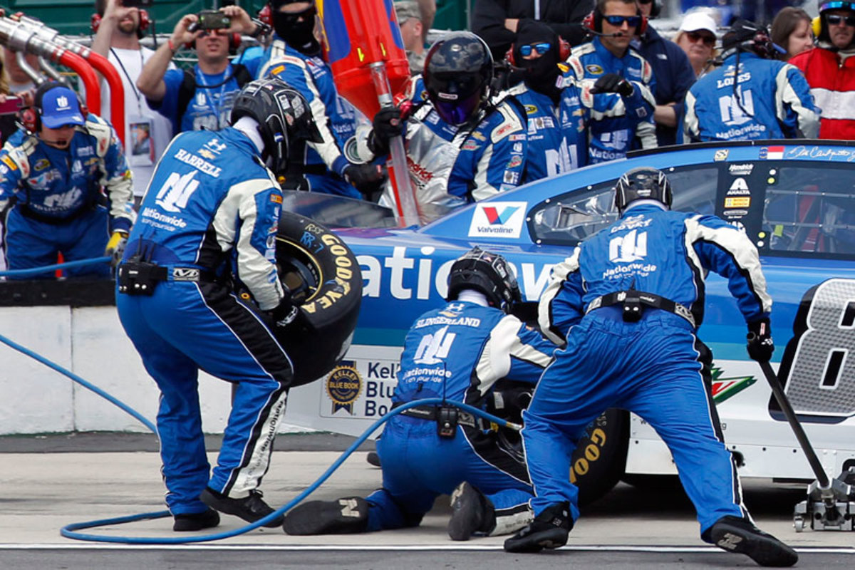 Harrell (left) earned a spot on one of Hendrick's four Sprint Cup crews—the big leagues—for 2015. (Courtesy Hendrick Motorsports)