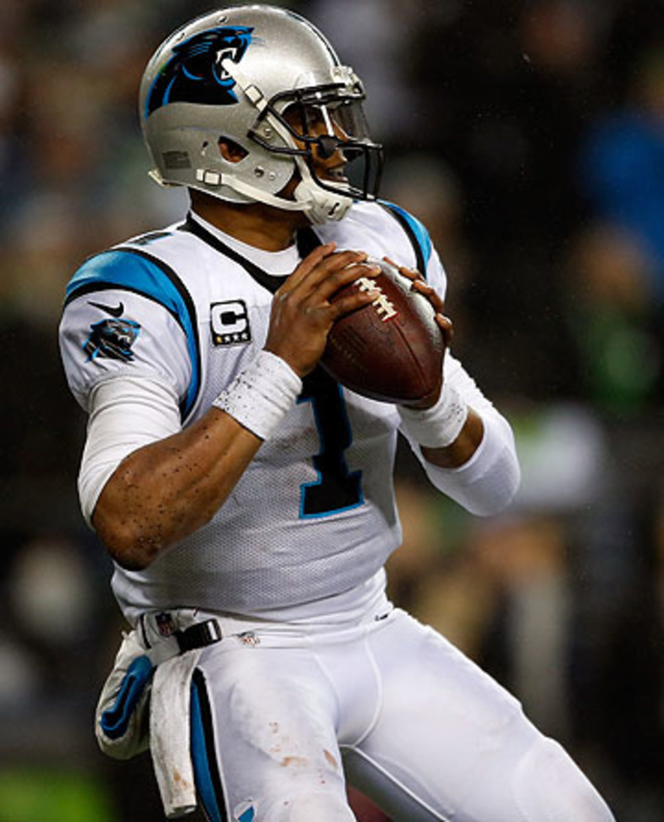 Cam Newton is entering the final year of his rookie contract in Carolina. (Otto Gruele Jr./Getty Images)