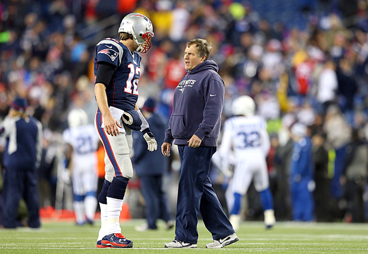 Brady and Belichick are headed to their sixth Super Bowl appearance in 14 years. (Jim Rogash/Getty Images)