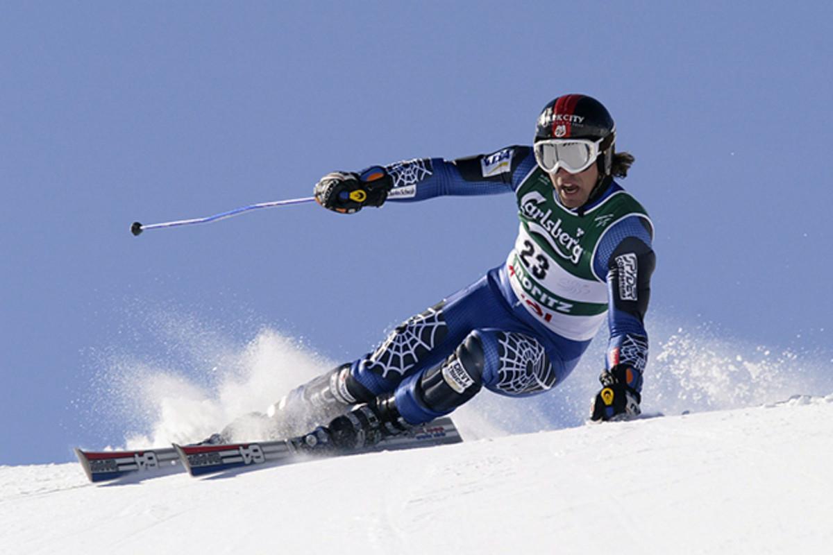 Erik Schlopy at the FIS Alpine World Ski Championships in February 12, 2003.