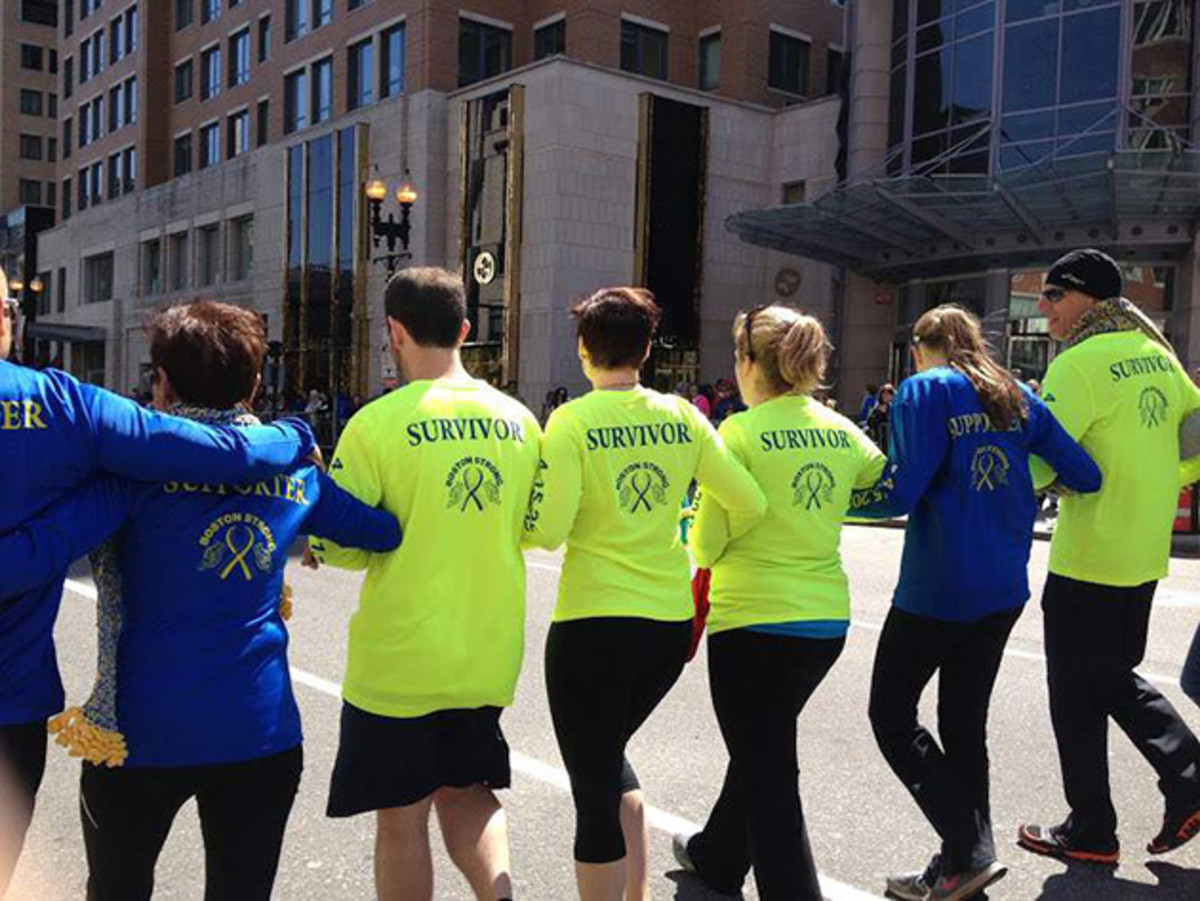 """The members of """" 415 Strong"""" are running the Boston marathon on Monday, two years after the terrorist attack that changed all of their lives."""