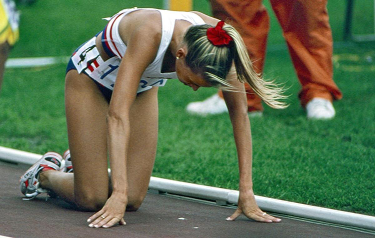 With leaden legs, Hamilton came in last in her 1,500-meter preliminary in Barcelona.