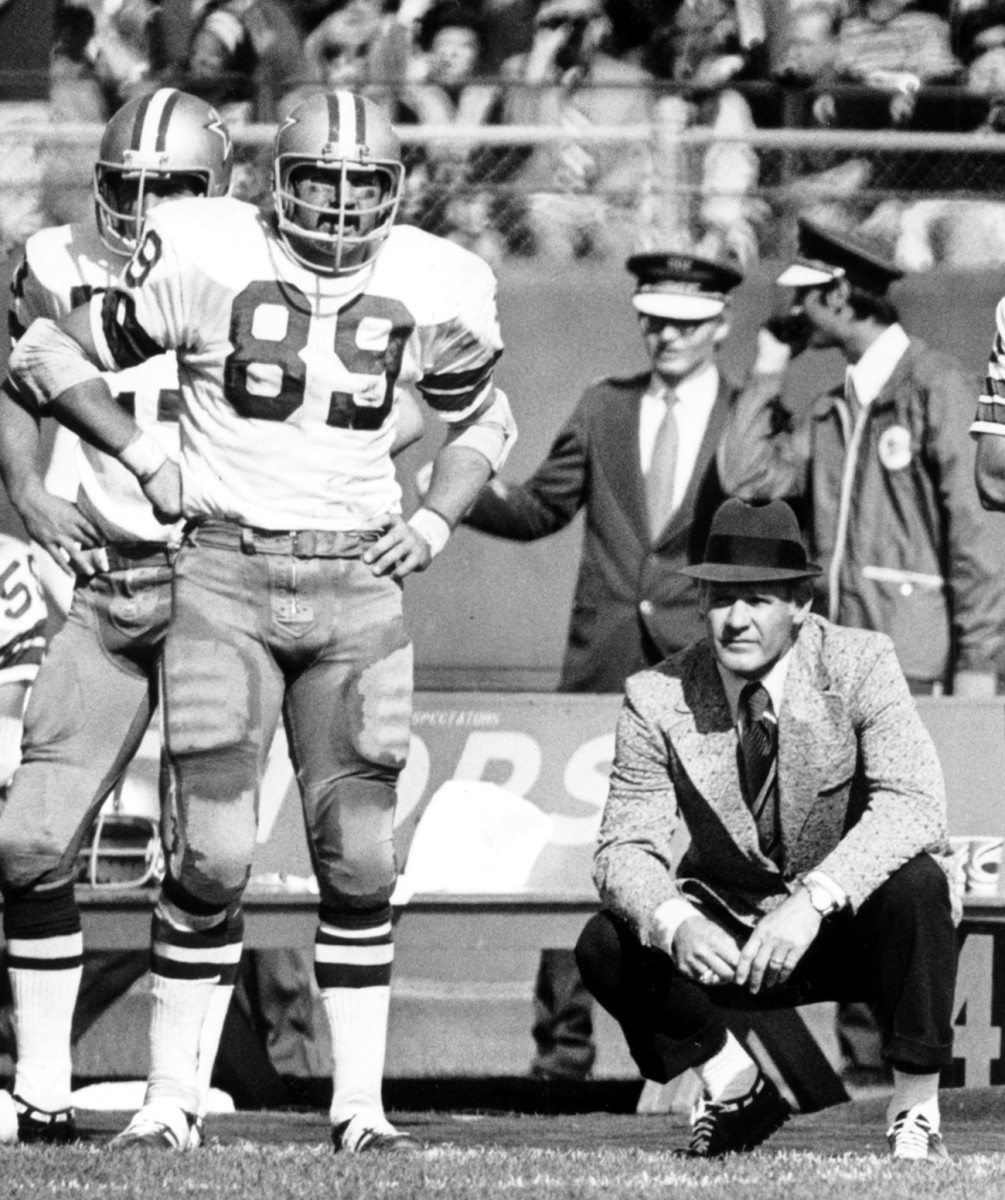 Iron Mike finished out his playing days as a platoon tight end with Landry in Dallas.