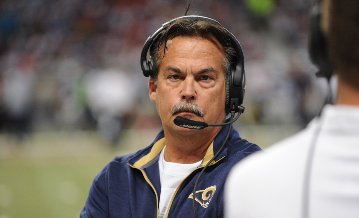Fisher certainly has the Ditka look on the sideline; he has coached 21 seasons for the Oilers, Titans and Rams.