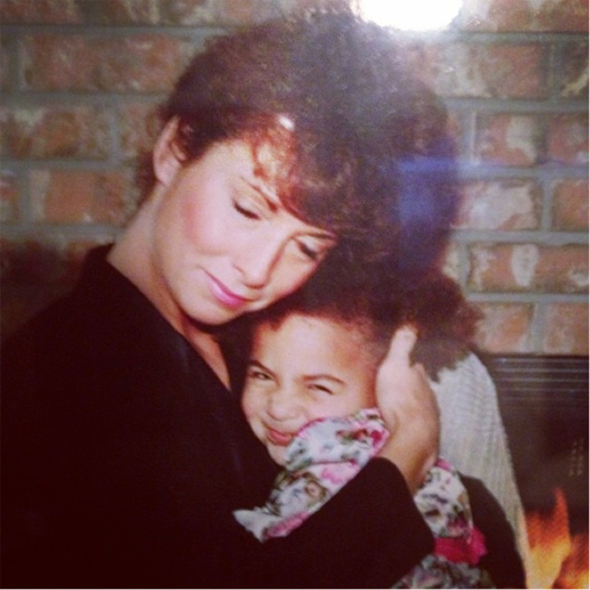 Sydney Leroux and her mother, Sandi.