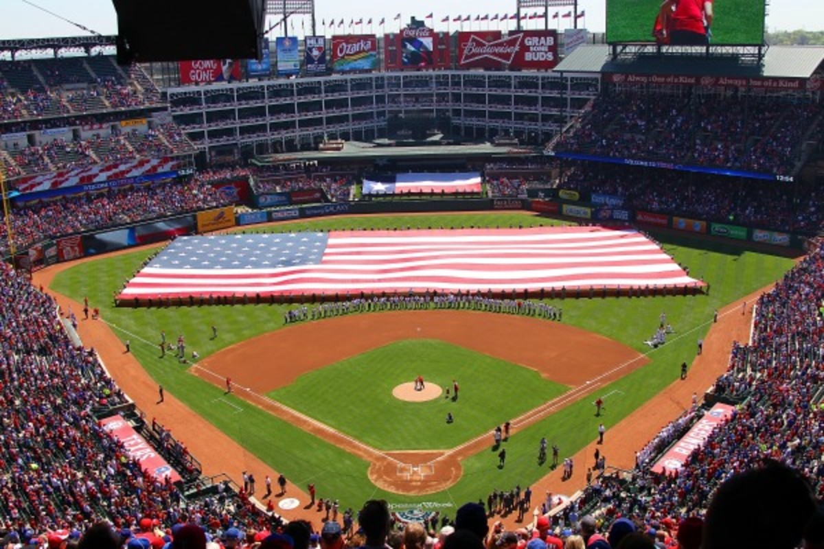 The Rangers signed a 10-year stadium naming rights deal with Globe Life Insurance. (R. Yeatts/Getty Images)
