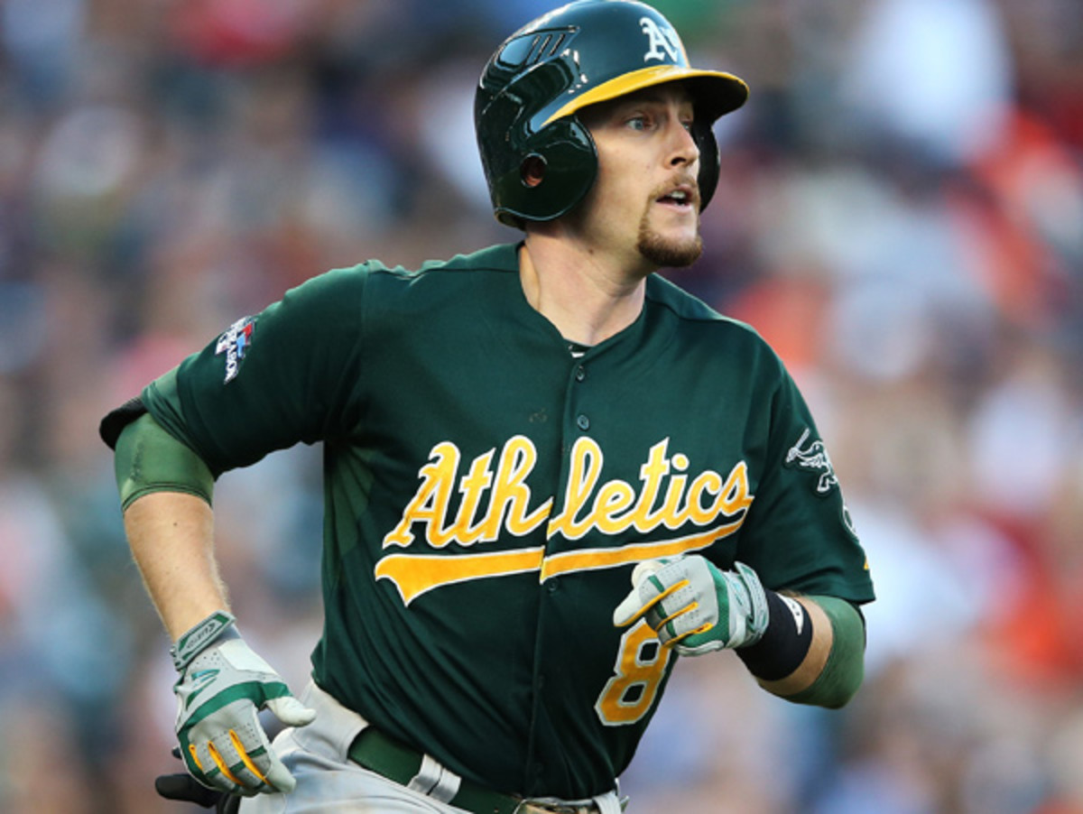 Jed Lowrie appeared in a career-high 154 games in 2013, hitting .290/.344/.446. (Leon Halip/Getty Images)