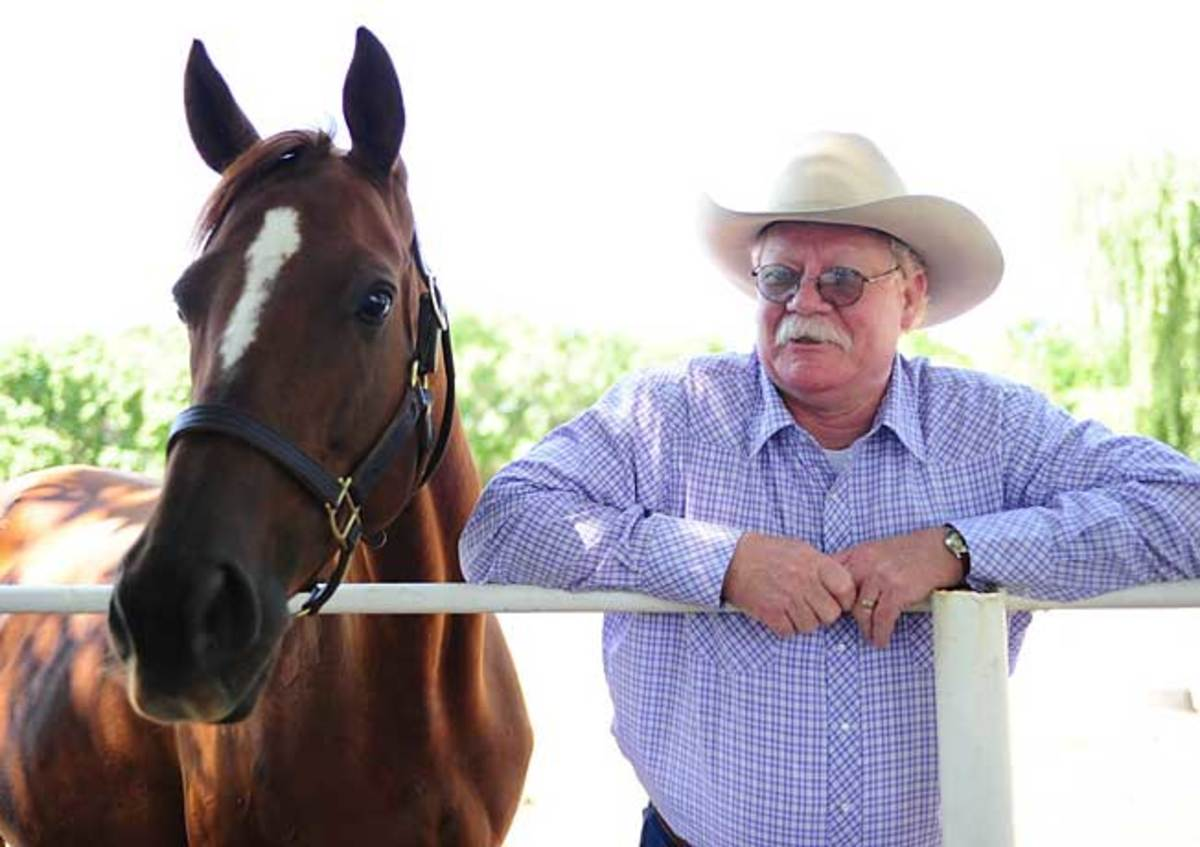 Love the Chase posed with Steve Coburn a few weeks before California Chrome won the Kentucky Derby.
