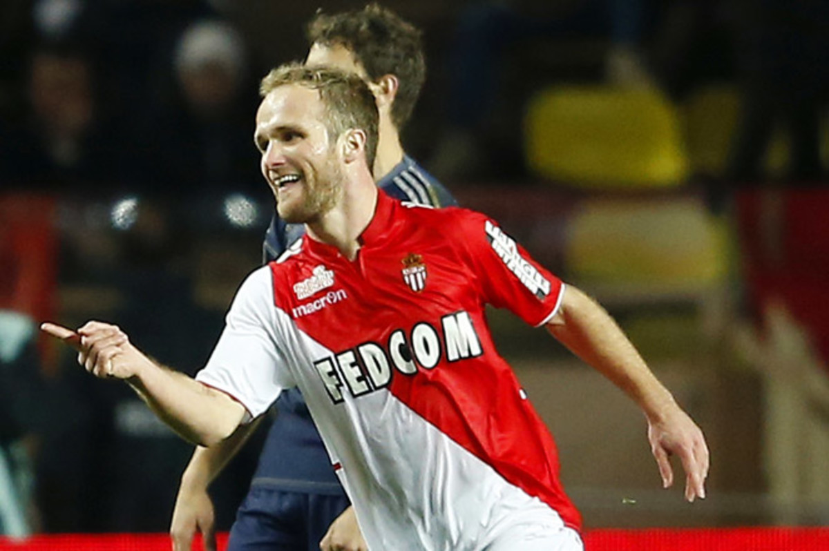 Valere Germain, who made just his second start of the season for Monaco, scored one of his team's two goals in its victory over Marseille.