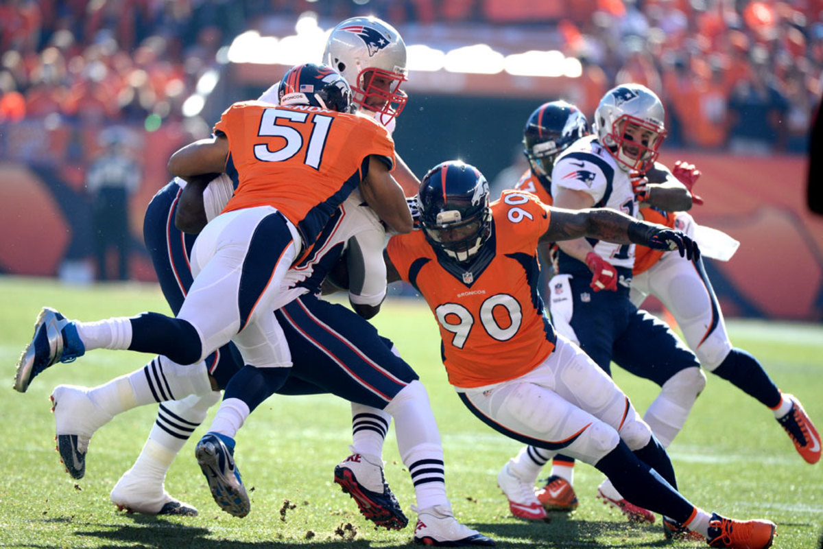 Lenon took over in the middle for the Broncos late in the season and earned his first Super Bowl trip with a win over the Pats. (David E. Klutho/Sports Illustrated/The MMQB)