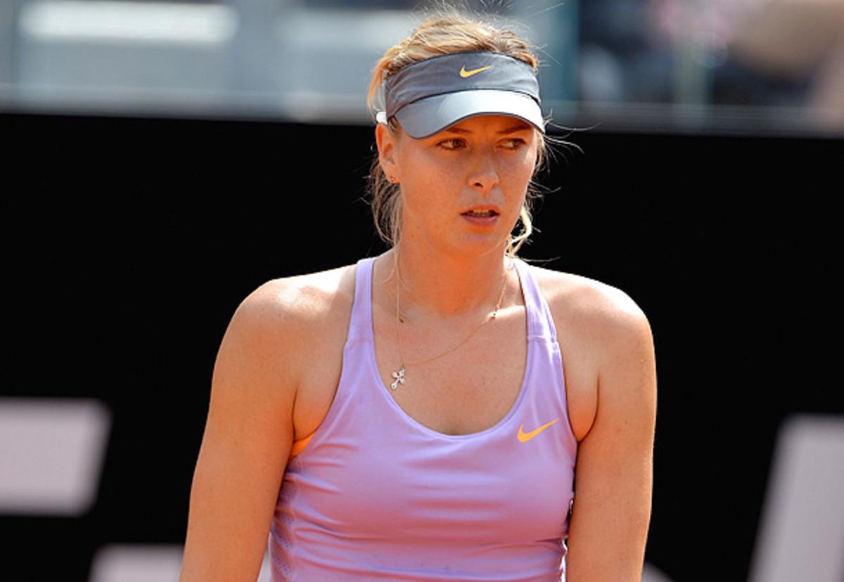 Maria Sharapova had won all of her matches on clay this season before facing Ana Ivanovic. (Michael Regan/Getty Images)