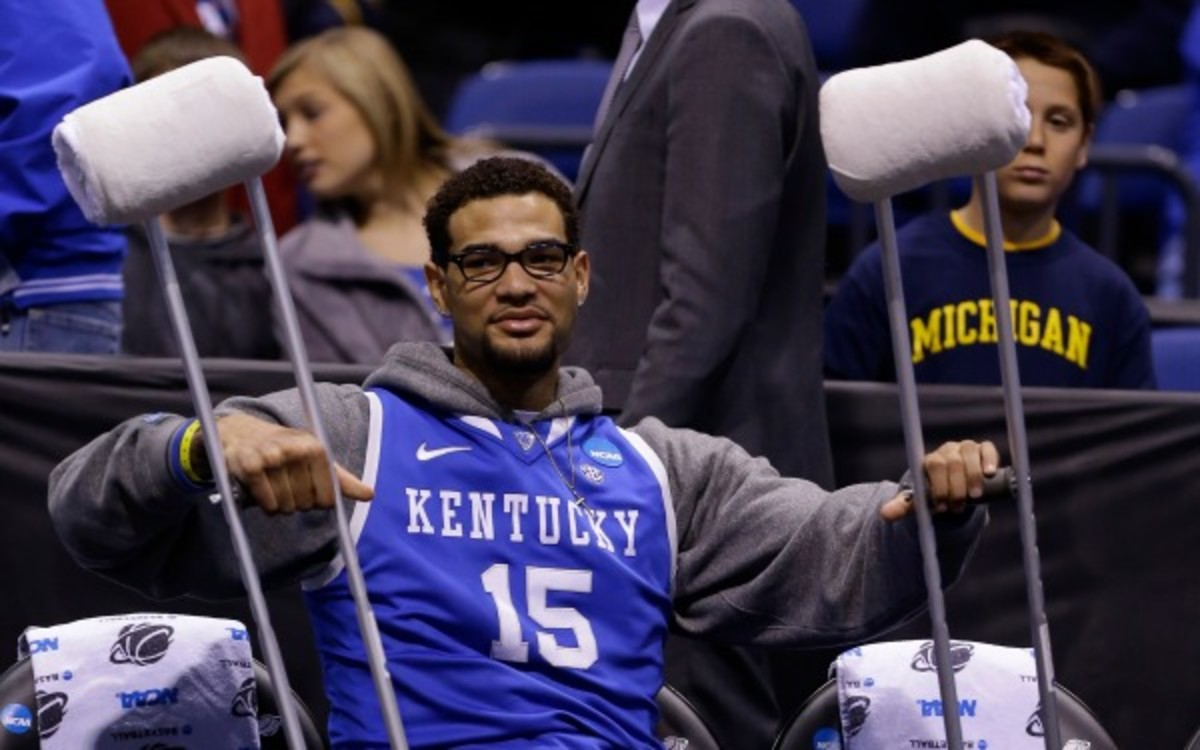 Willie Cauley-Stein will likely miss this weekend's Final Four with an injured left ankle. (AP Photo/Michael Conroy)