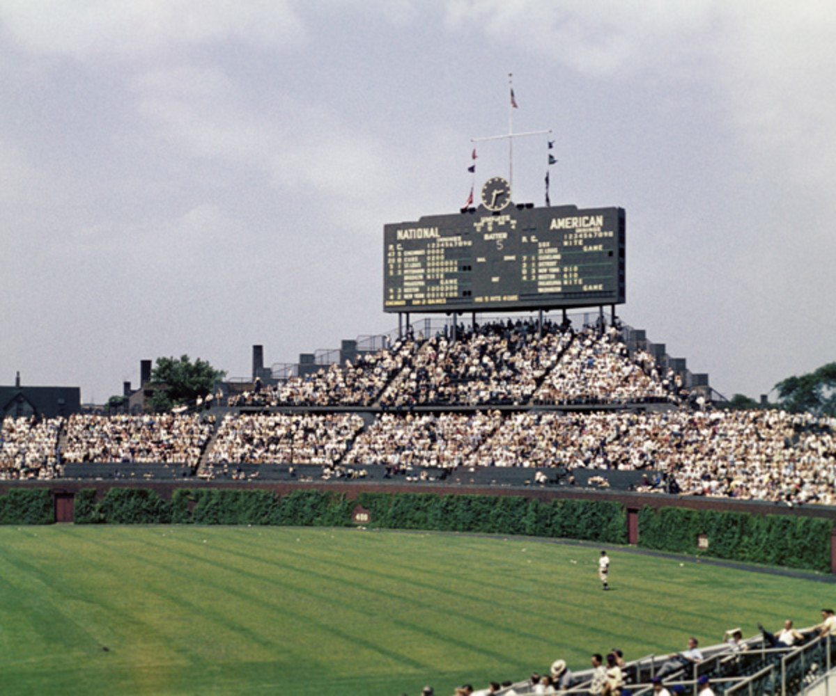 Wrigley Field in 1971 (Photo by:  Diamond Images/Getty Images).