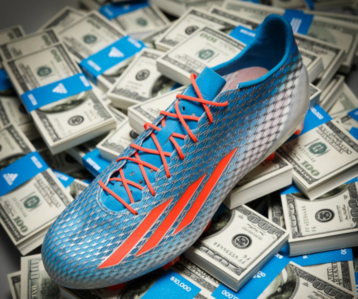 40-yard dash NFL combine 2014: The adizero 5-Star 40 could be worth $100,000 to a fast combine athlete.