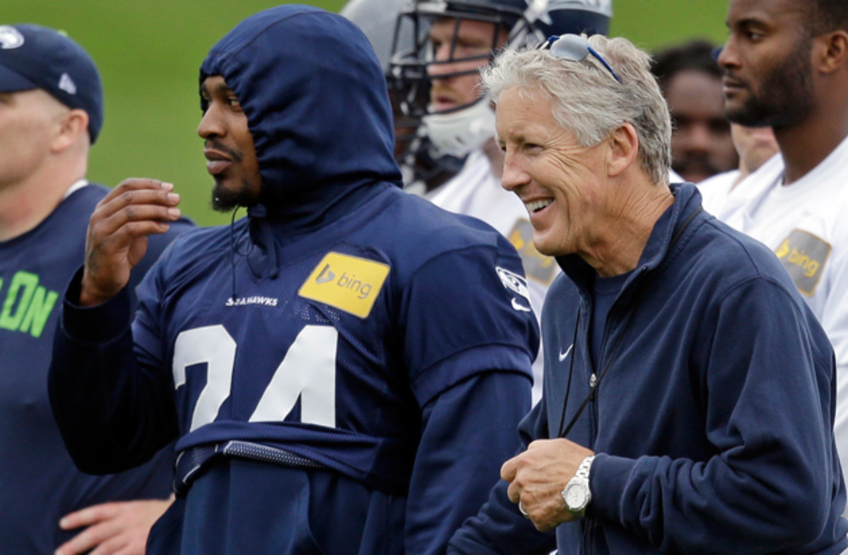 Pete Carroll laughed with Marshawn Lynch in June's minicamp, but the Seahawks will likely have the last laught when it comes to Lynch's contract.