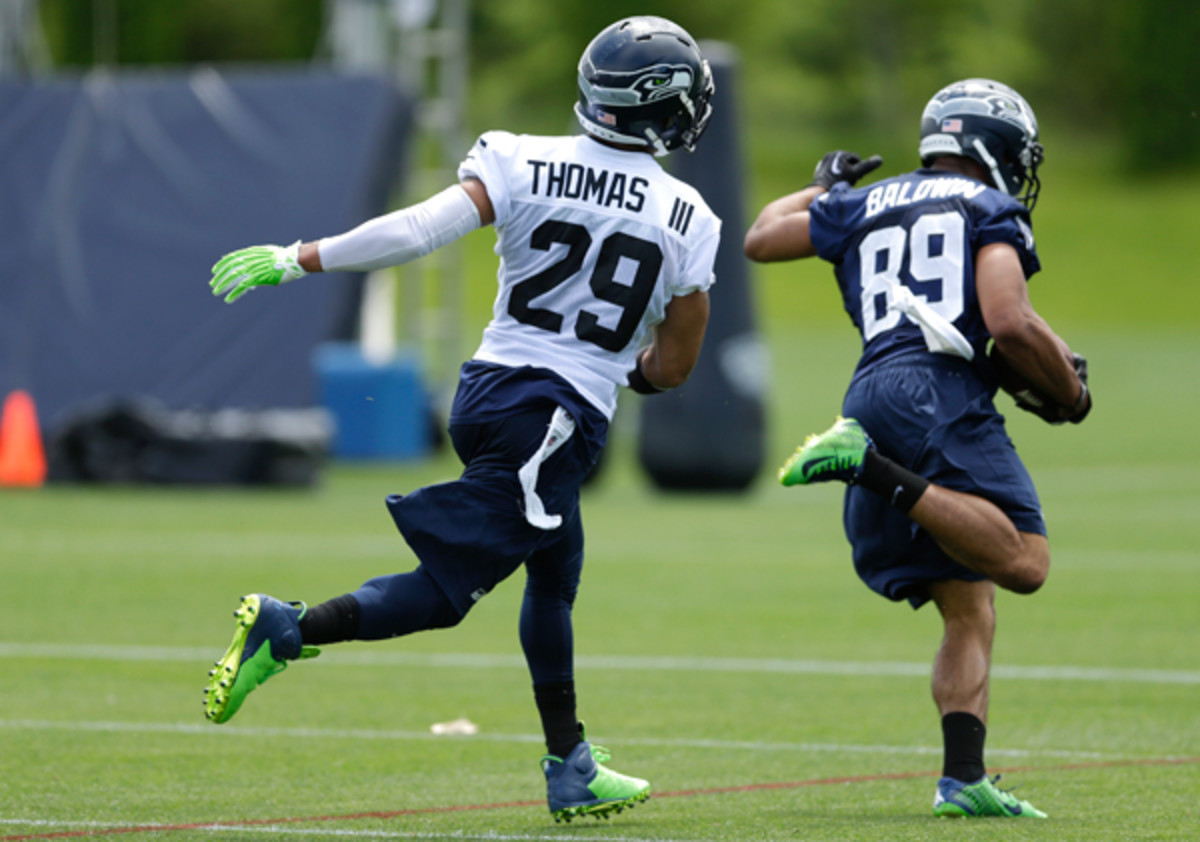Doug Baldwin (89) was the rare offensive player to accomplish anything of note against his own defense. (Ted S. Warren/AP)