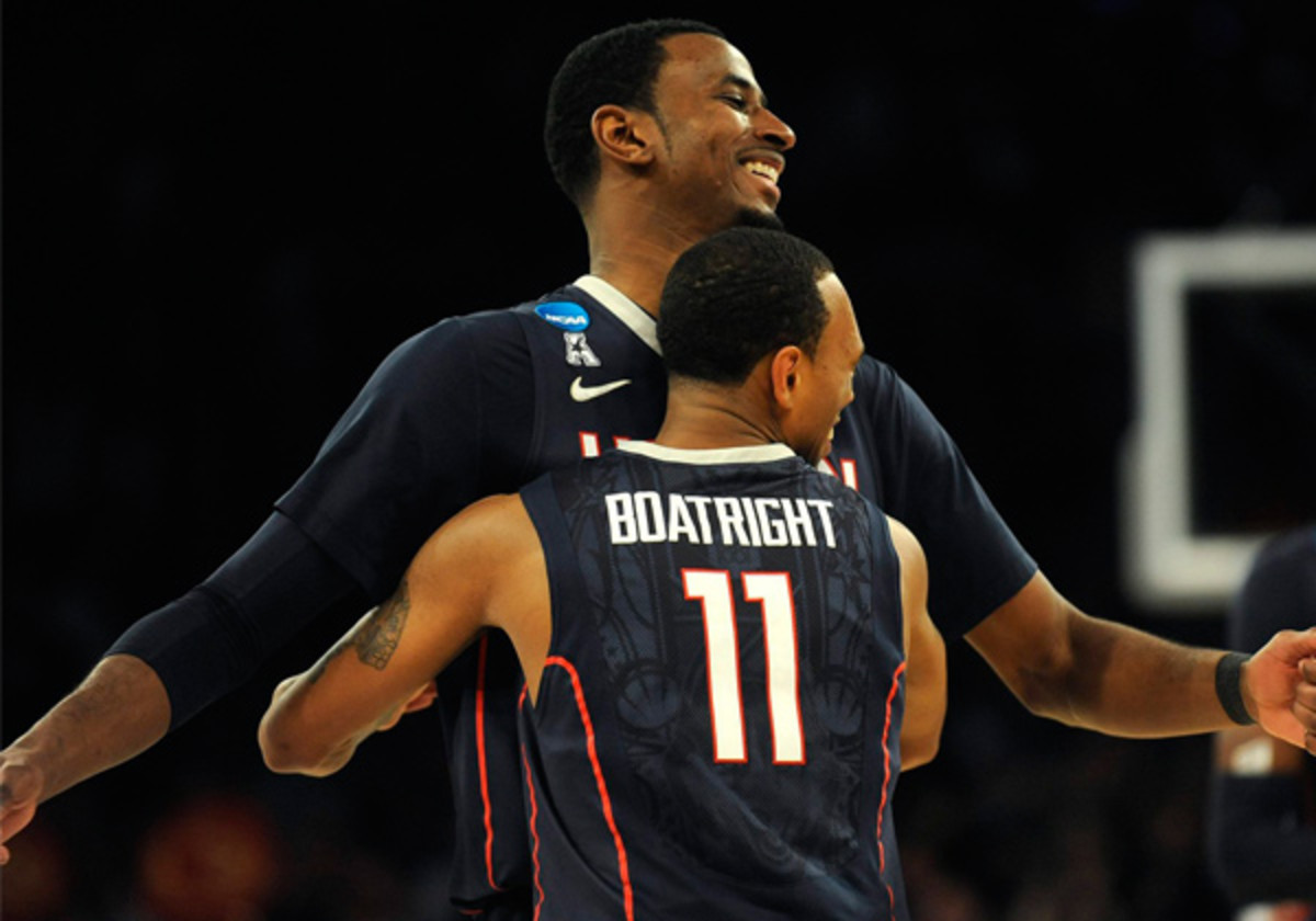 DeAndre Daniels (top) has been as instrumental to UConn's run as anyone else on the team. (Brad Horrigan/Hartford Courant/MCT)